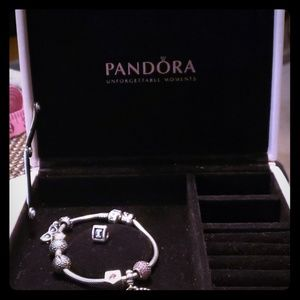 PANDORA CHARM BRACELET WITH ORIGINAL BOX